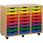 24 Shallow Tray Storage Unit