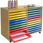 Art Storage Unit With 24 Trays