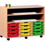 Mobile Art Storage Unit With 12 Trays