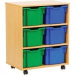 6 Jumbo Tray Storage Unit
