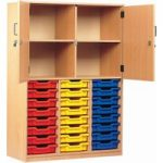 24 Tray Storage Cupboard With Half Doors