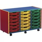 Multi Coloured Storage Unit With 18 Shallow Trays