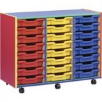Multi Coloured Storage Unit With 24 Shallow Trays