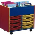 Colourful 4 Bay Kinderbox With Trays