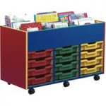 Colourful 6 Bay Kinderbox With Trays