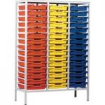 Metal Tray Storage Unit With 45 Trays