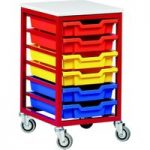 Metal Tray Storage Unit With 6 Trays