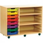 Combination Tray Storage Bookcase