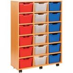 Cubby Tray Storage Unit With 18 Trays