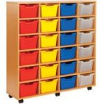 Cubby Tray Storage Unit With 24 Trays
