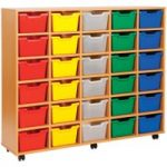 Cubby Tray Storage Unit With 30 Trays