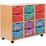Allsorts 12 Deep Tray Storage Unit